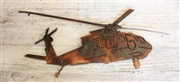 Blackhawk Helicopter Metal Wall Art