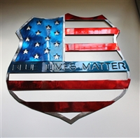 Blue Lives Matter Metal Art