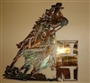 Barrel Racing Metal Wall Art