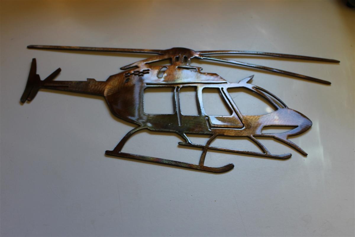 Art Décor: Bell Helicopter Metal Wall Art Decor