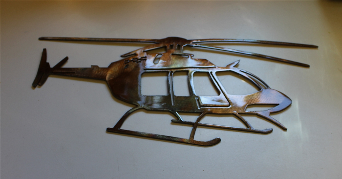 Bell Helicopter Metal Wall Art Decor