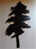 Pine Tree in Black Metal Wall Decor