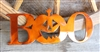 Pumpkin Boo Metal Wall Art Accent