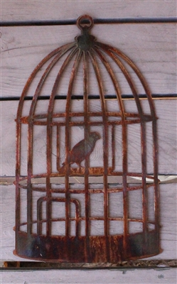 Birdcage Metal Wall Art Decor