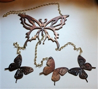 Butterfly Metal Wall Art Wind Chime