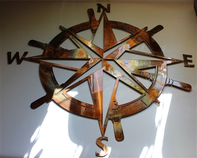 Captains Nautical COMPASS ROSE 34""