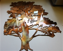 Cedar Tree Metal Wall Art