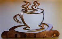 Coffee Cup Key/Kitchen Utensil Holder - Copper/Bronze