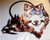 Wolf Coyote Metal Wall Art