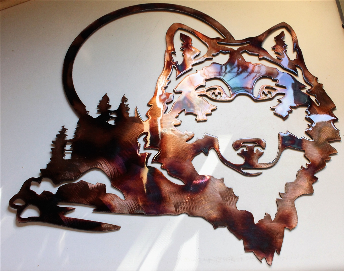 Lazy Days Wolf Copper//Bronze Plated by HGMW