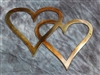 Double Hearts Metal Wall Accents Copper/Bronze