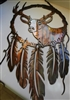 Deer Head Dream Catcher Metal Art