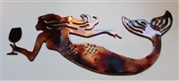 Drink like a  Fish Mermaid Metal Wall Art