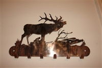 Elk in the Woods Key Holder - Copper/Bronze