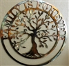 Family is Forever Olive Tree Metal Wall Art