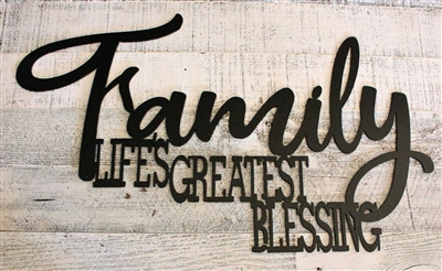 Family Life's Greatest Blessing Wall Art