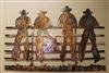 Kicking Back Cowboys on the Fence...by HGMW