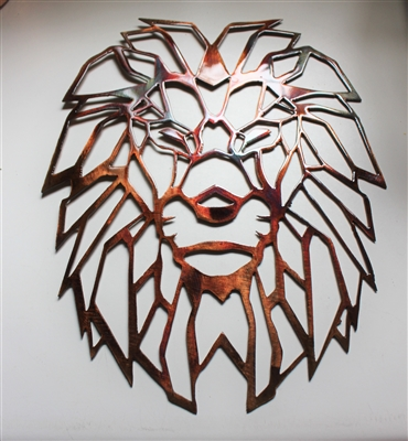 Geometric Metal Wall Art Lion