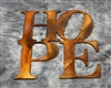 "HOPE ""Boxed ""Metal Wall Art Decor"