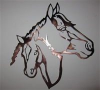 Horse Head Mom and Baby Metal wall art Decor