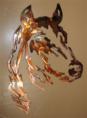 Horse Head Metal Wall Art Western Decor Large Version