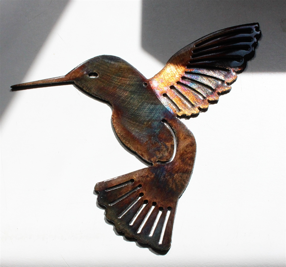 Two Birds Flying Smaller  Metal Wall Art Accents Copper//Bronze Plated