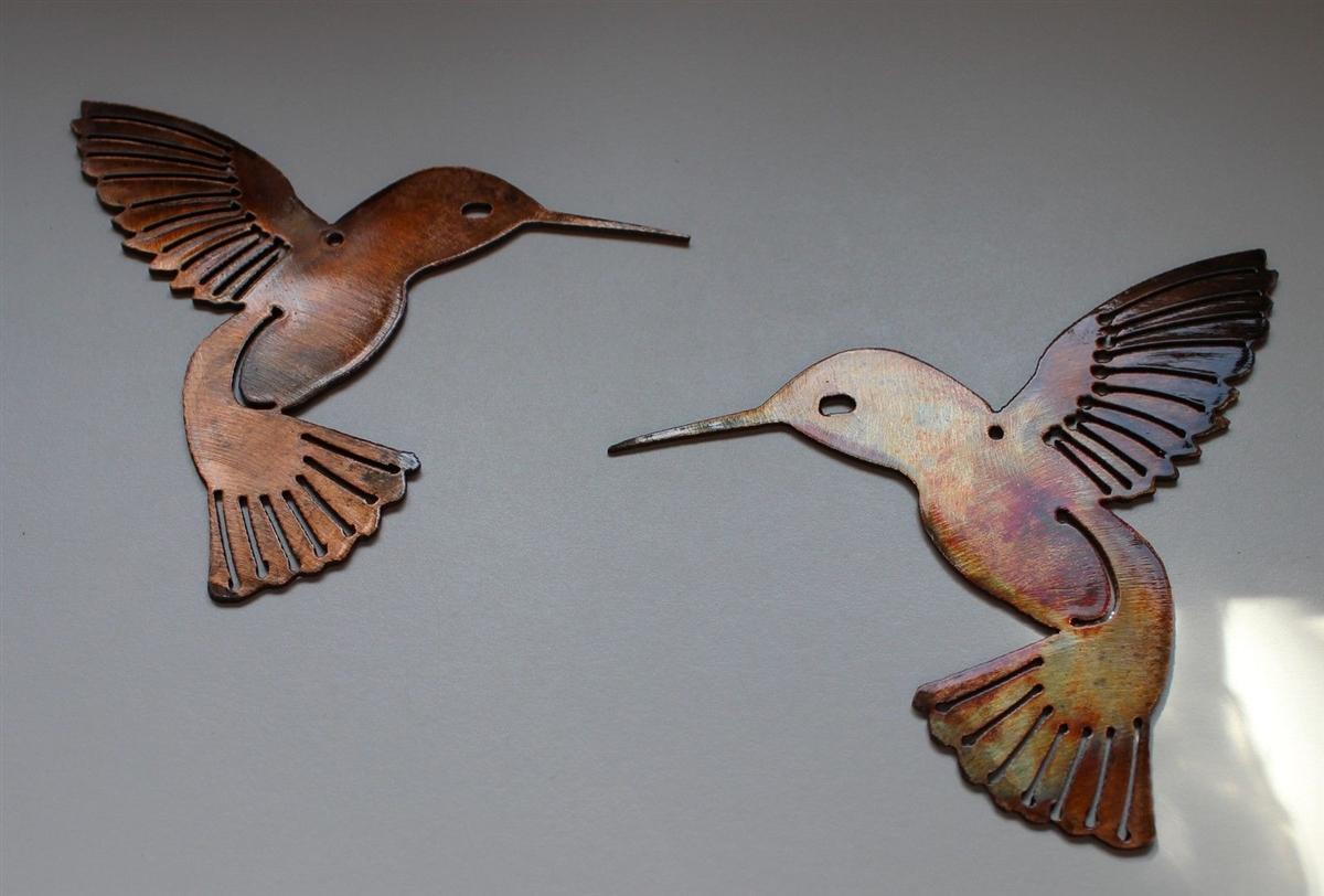 Art Décor: Hummingbird Pair Metal Wall Art Decor