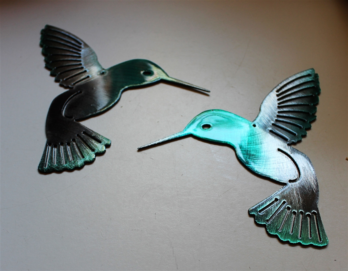 Teal Metal Wall Art Hmbrdtl22