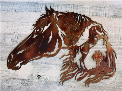 Horse in Horse Metal Wall Art