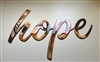 Hope Metal Wall Art Accent