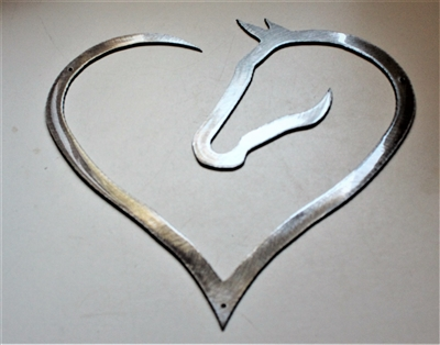 Horse Heart Metal Art