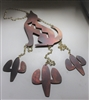 Howling Coyote Metal Art Wind Chime