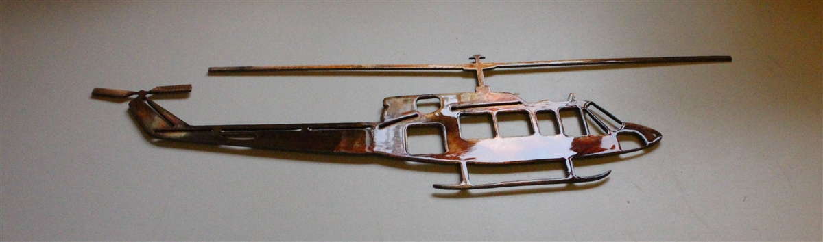 Huey Helicopter Metal Wall Art Decor