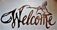 Hummingbird Welcome Sign