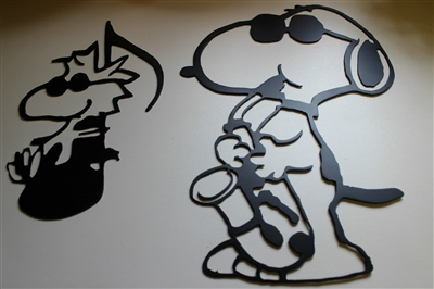 Jazz Playing Duo Snoopy & Woodstock