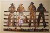 Kickin Back Cowboys Metal Wall Art Decor