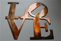 "LOVE ""Boxed ""Metal Wall Art Decor"