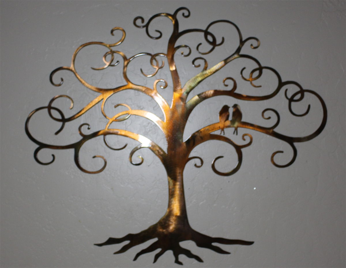 Love Bird Swirled Tree Of Life 24 Quot Tall By Hgmw