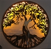 "Tree of Life Metal Wall Art 24"" Lit with AC powered LED lights by HGMW"