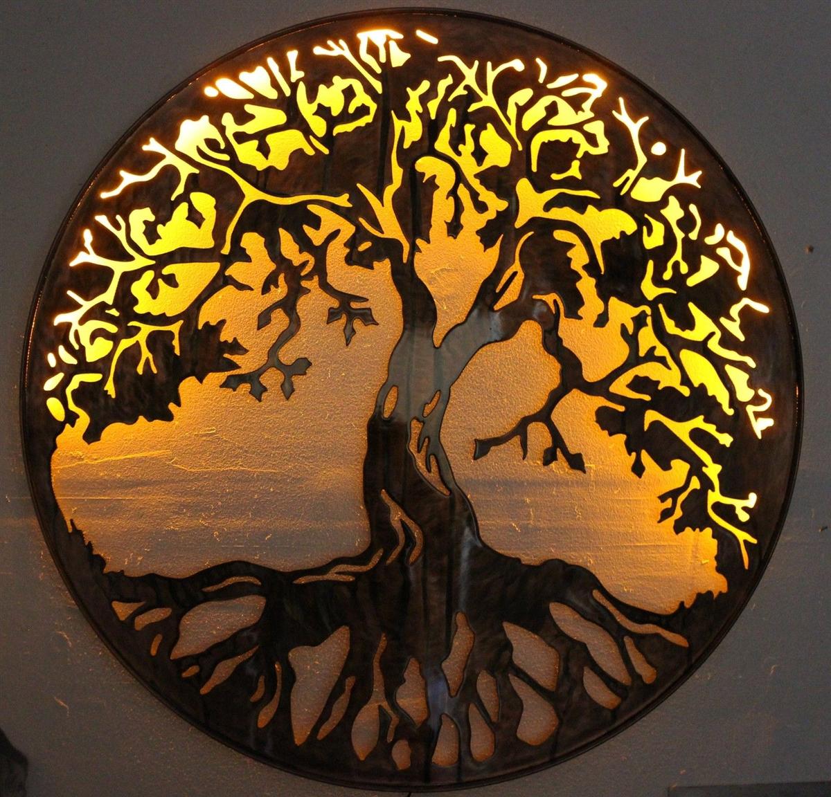 Tree of life metal wall art 24 with led lights by hgmw aloadofball