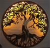"Tree of Life Metal Wall Art 34"" with LED lights by HGMW"