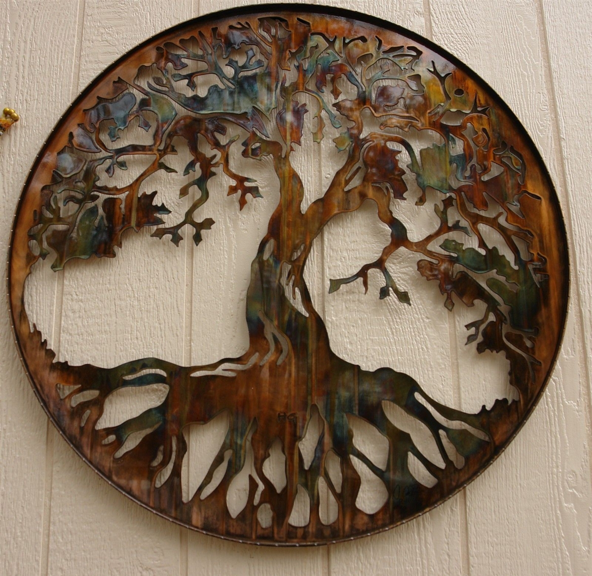 light up wall deor.htm tree of life metal wall art 34  with battery pwrd led lights by hgmw  tree of life metal wall art 34  with