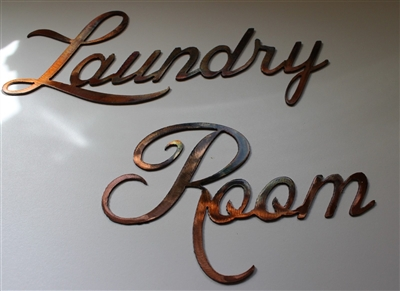 Laundry Room Metal Wall Art LARGE Sized