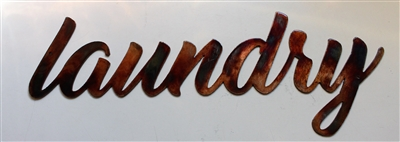 Laundry Metal Wall Art Sign