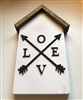 Small House Wood Decor Home with Love and Arrow