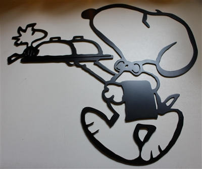 Maitre D Snoopy Amp Pal Metal Wall Art