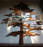 Majestic Pine Tree Metal Wall Accent