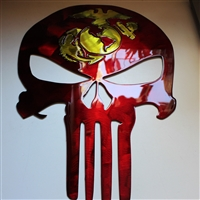 Military Punisher Metal Wall Art