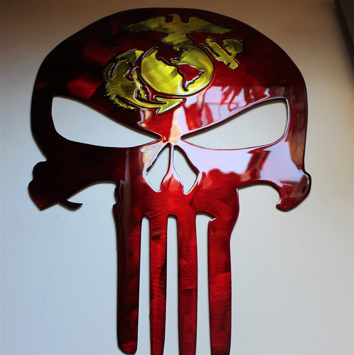 Metal Sculptures And Art Wall Decor: Military Punisher Metal Wall Art