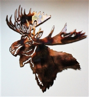 Moose Head Metal Wall Art Accent